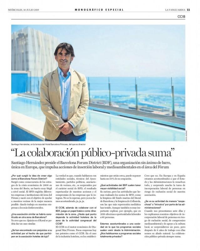 """La Vanguardia – """"La colaboración público-privada suma"""""""