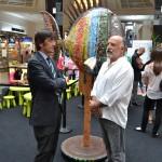Santiago Hernandez, director del Hotel Barcelona Princess con Ricardo Moraga
