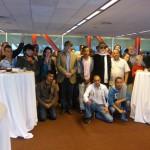 Foto del grupo de Arte Social Trinijove con Puigmartí, Ricardo Moraga, Sr. Eduard Freixedes y la Sra. Maria Estrany