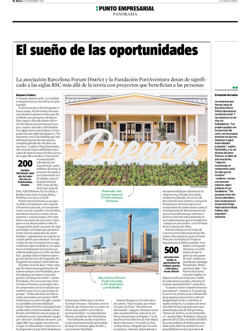 La Vanguardia – El sueño de las oportunidades