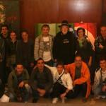 Puigmartí con los alumnos del proyecto de inclusión social Taller de Arte de la Fundación Trinijove