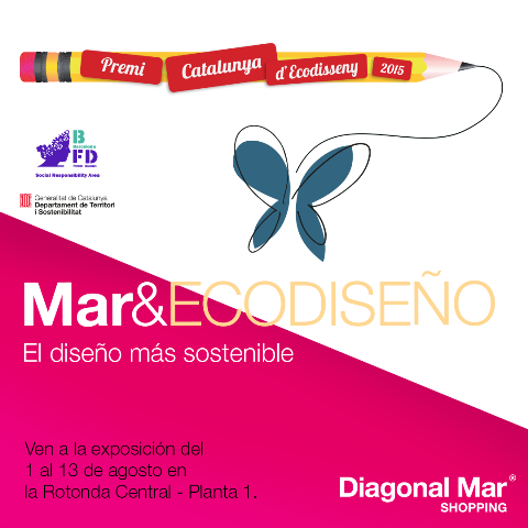 Los Premios Ecodiseño se exponen en Diagonal Mar