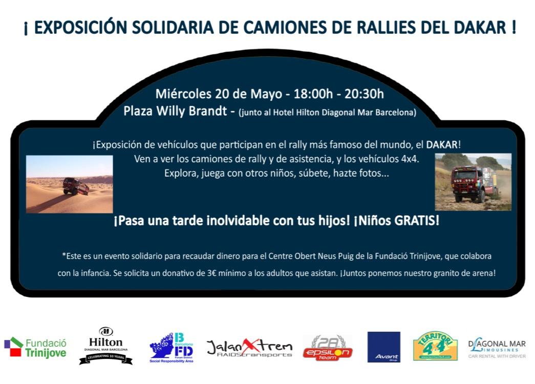 Exposición solidaria de camiones de rallies del Dakar
