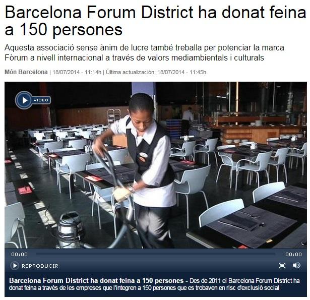 La Vanguardia – El Barcelona Forum District ha dado trabajo a 150 personas