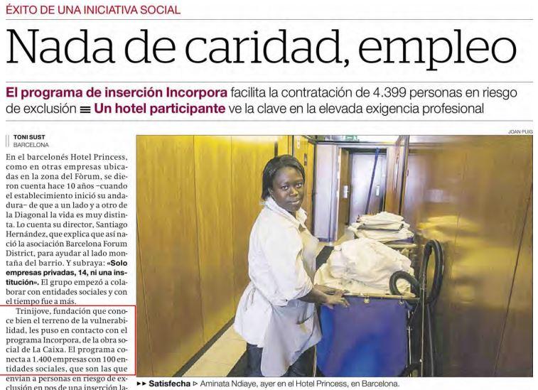 El Periódico – Nada de Caridad, Empleo
